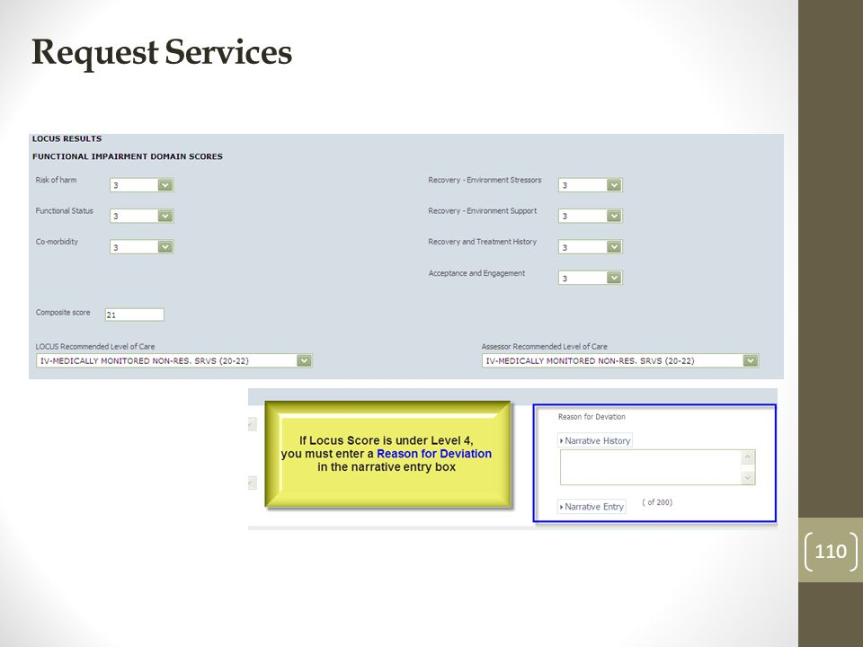 Request Services 110