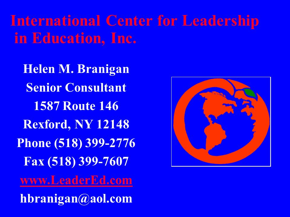 International Center for Leadership in Education, Inc.