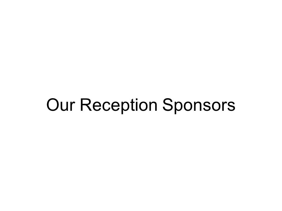 Our Reception Sponsors