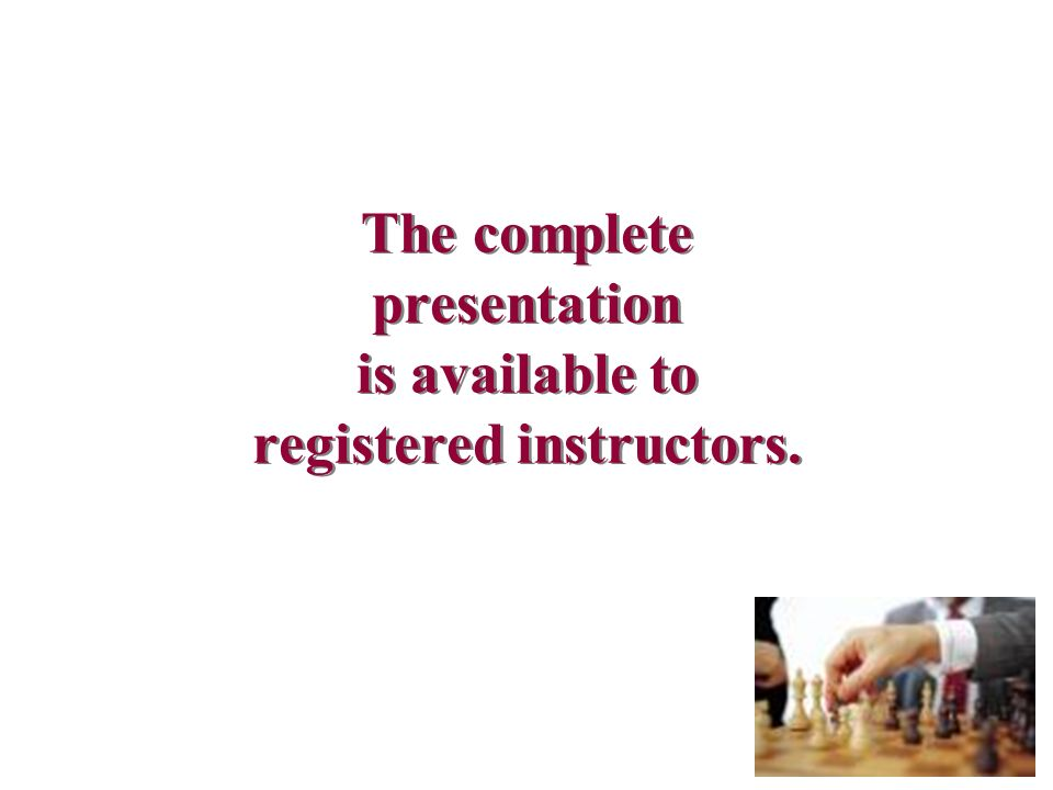 The complete presentation is available to registered instructors.
