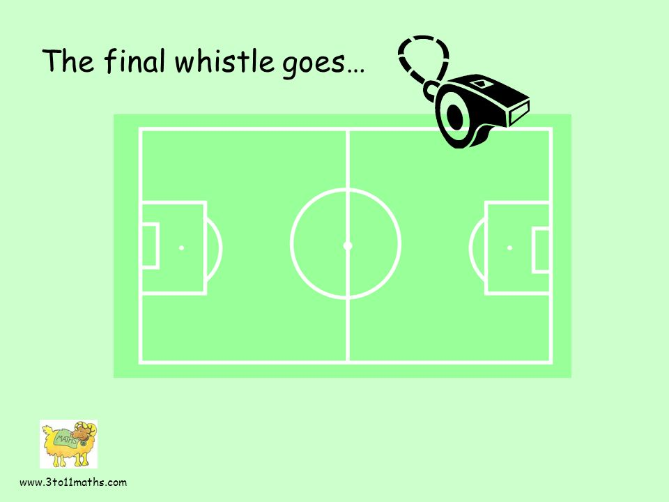 The final whistle goes… www.3to11maths.com