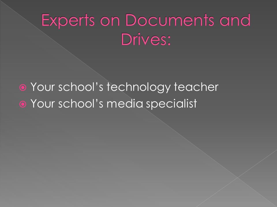 Your schools technology teacher Your schools media specialist