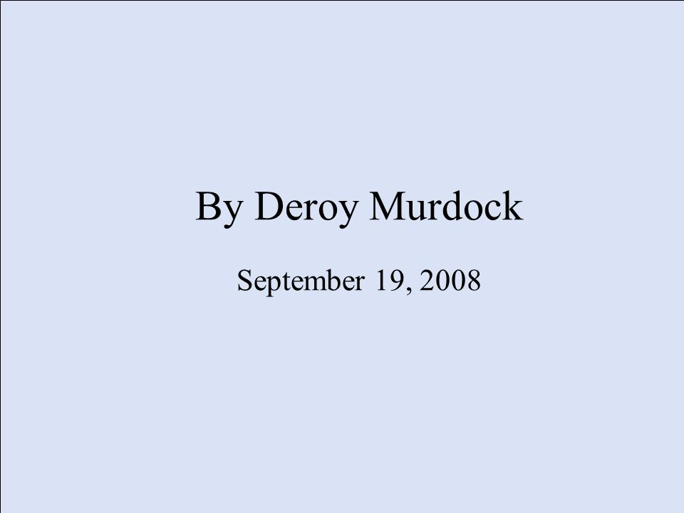 By Deroy Murdock September 19, 2008