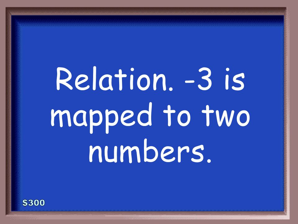 1-300 Function or relation Explain how you know.