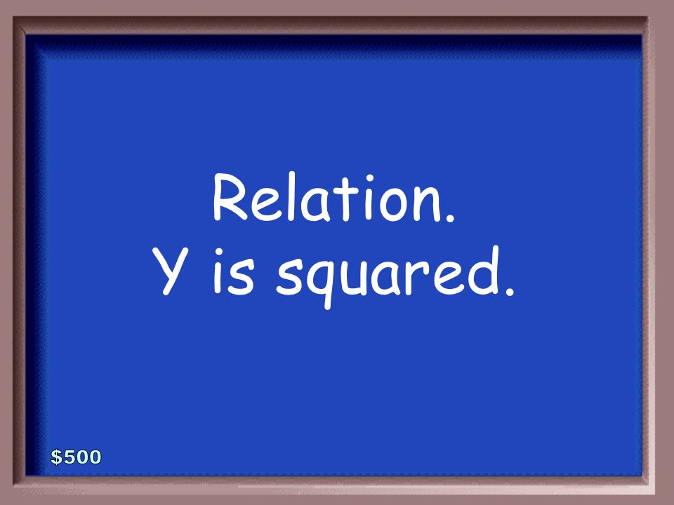 1-500 Function or relation Explain how you know.