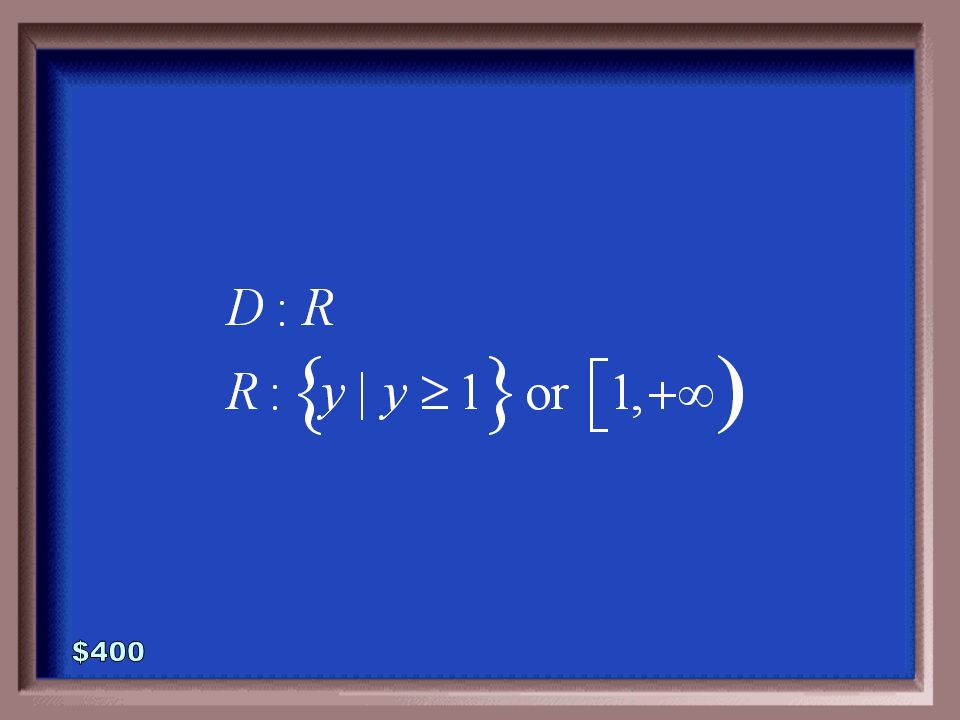 2-400 Find the domain and range of the function defined below.
