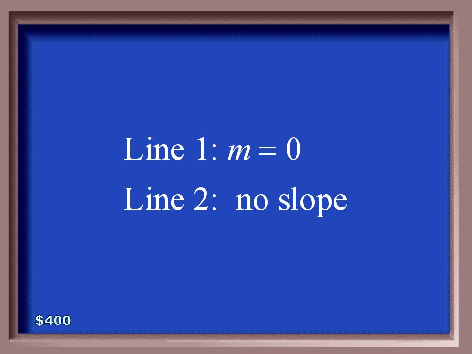 5-400 Find the slopes of the lines whose equations are defined below.