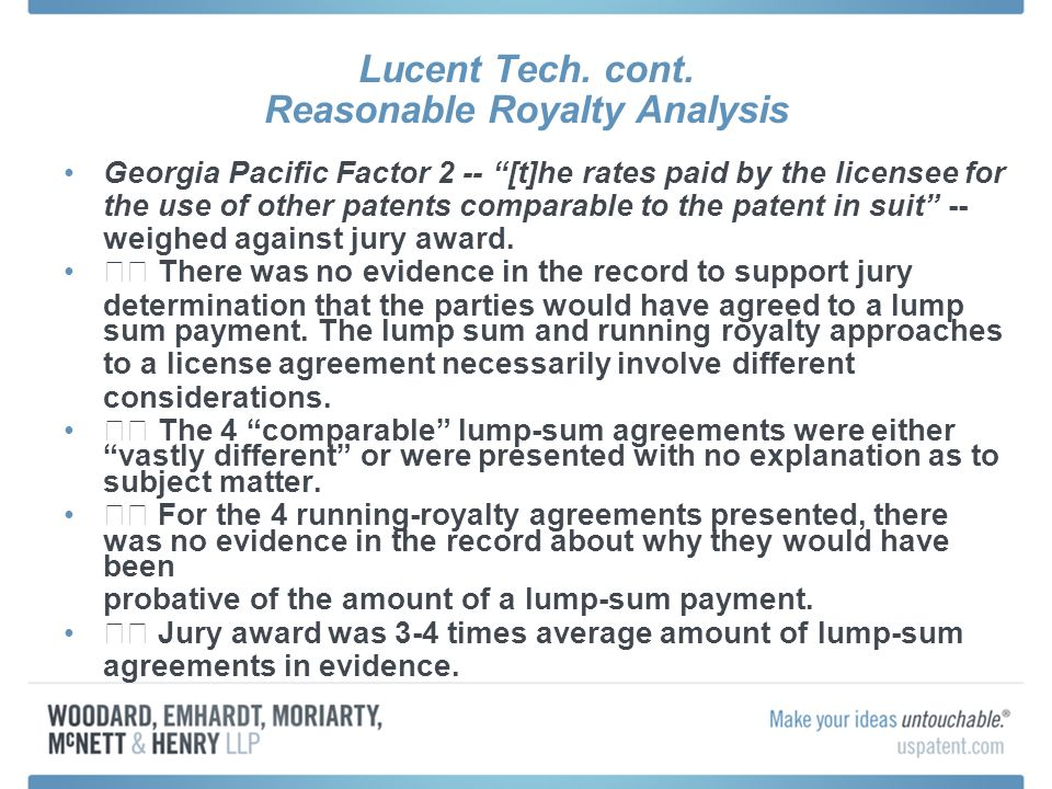 Lucent Tech. cont.