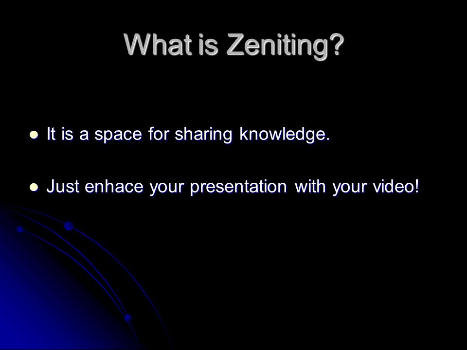 What is Zeniting. It is a space for sharing knowledge.