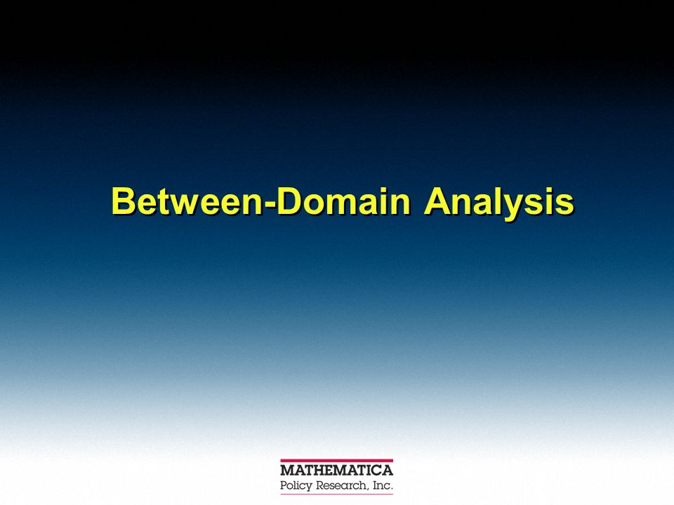 Between-Domain Analysis
