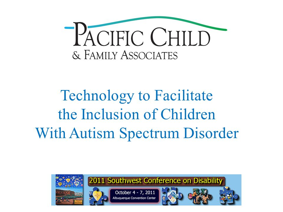 Technology to Facilitate the Inclusion of Children With Autism Spectrum Disorder