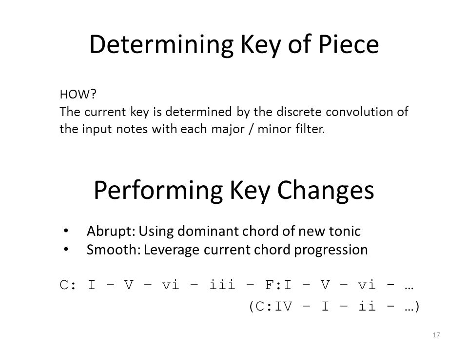 Determining Key of Piece 17 HOW.