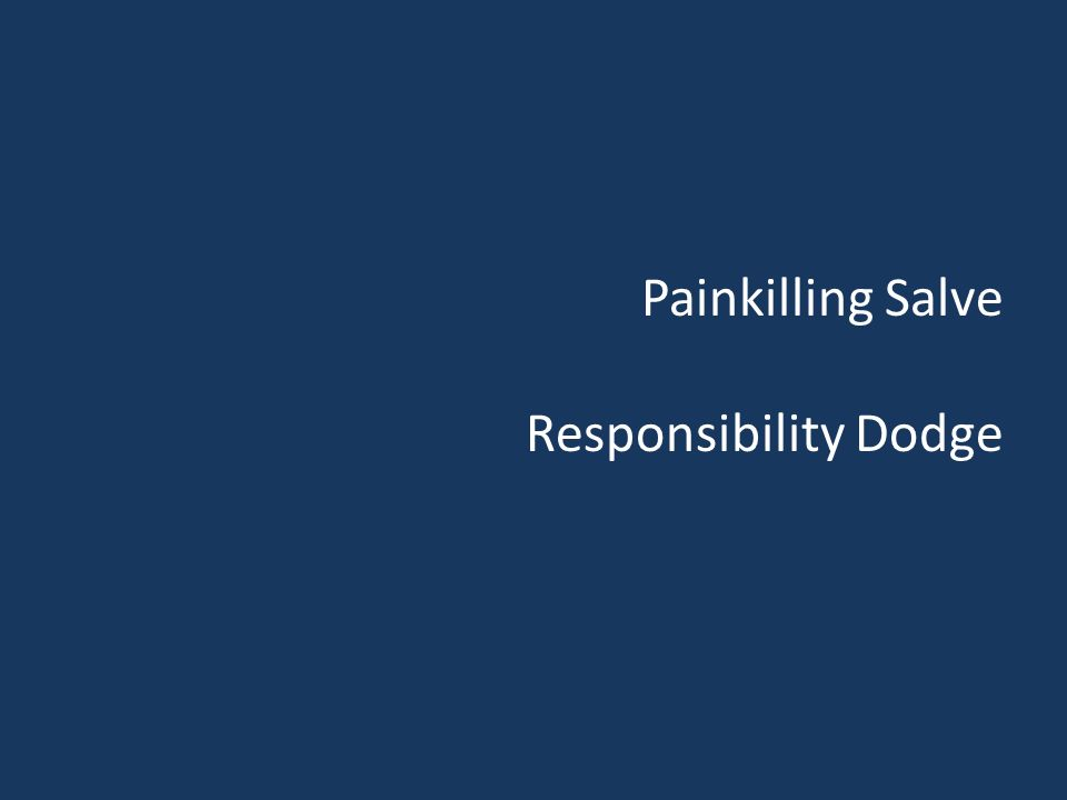 Painkilling Salve Responsibility Dodge