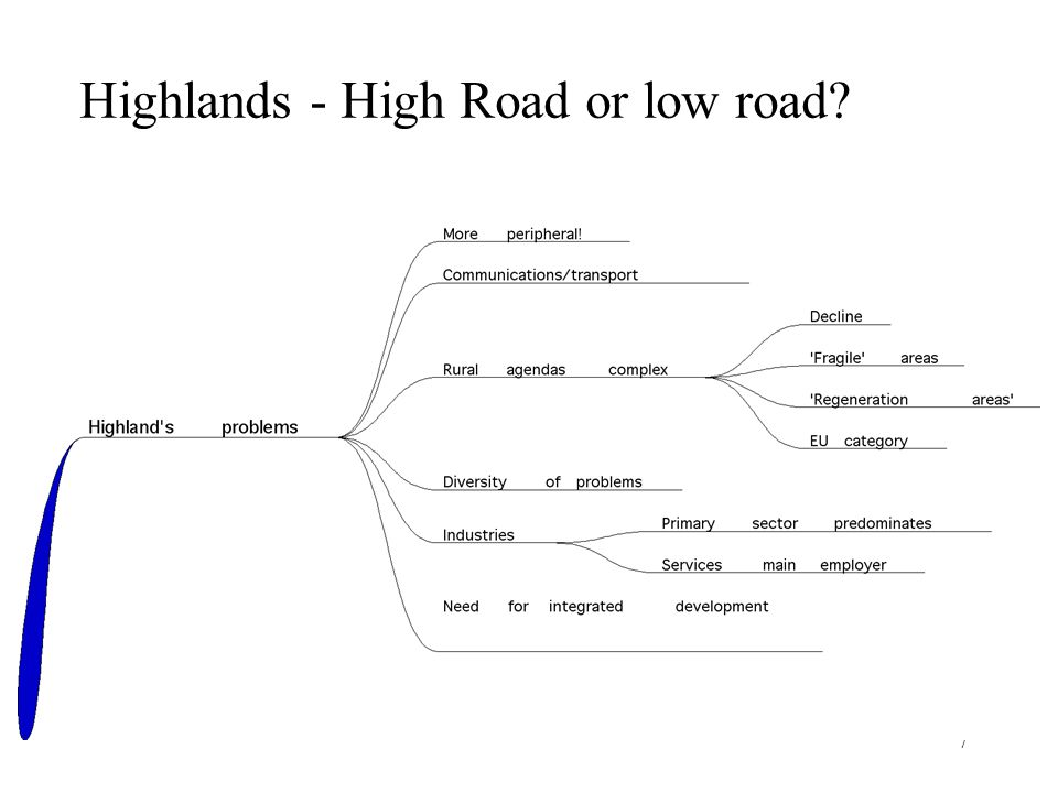 7 Highlands - High Road or low road