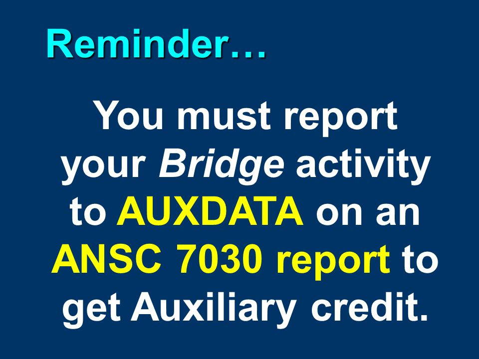 Always fill out a complete Light Survey and Fender System Survey whenever you report a bridge.