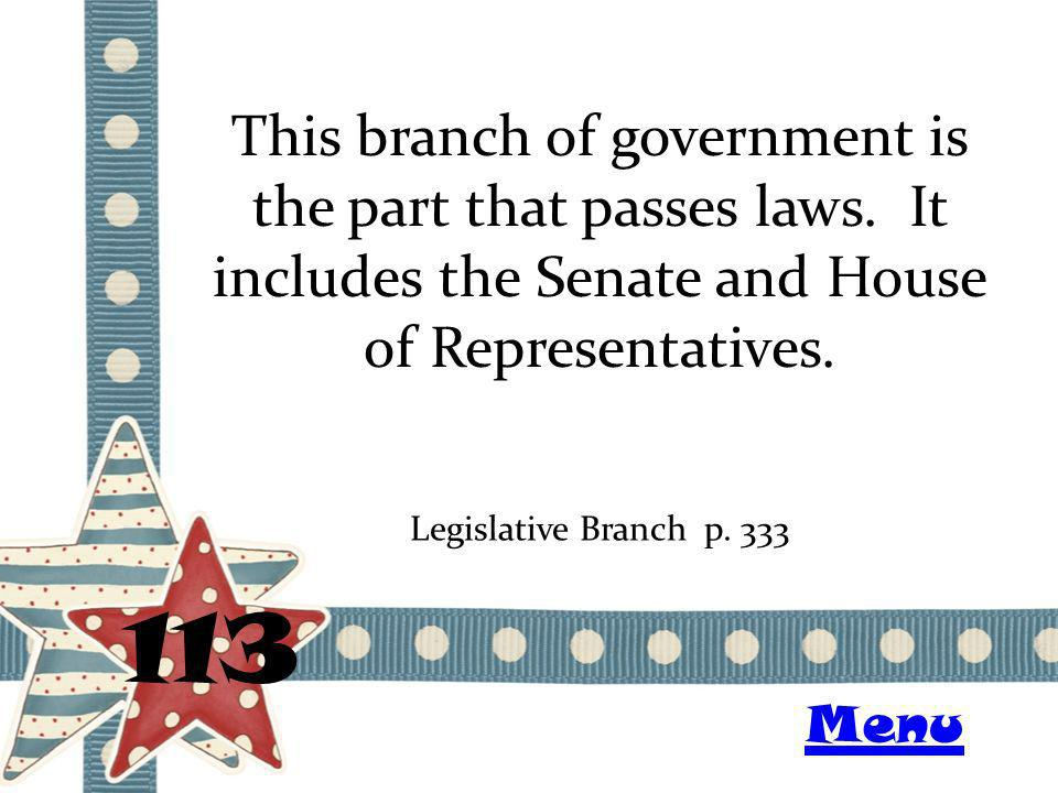 This branch of government is the part that passes laws.