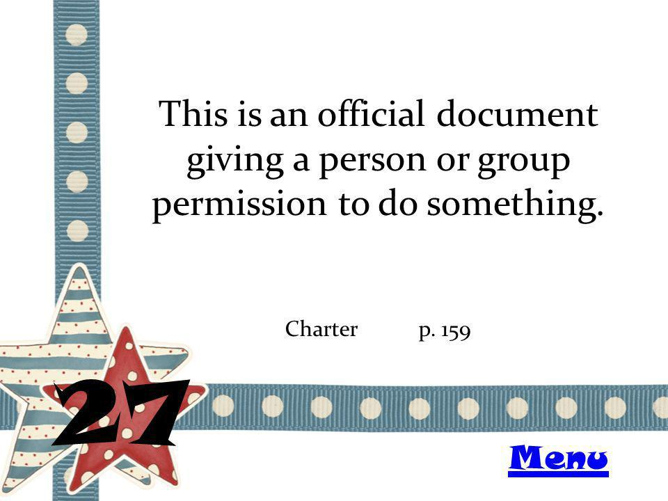 This is an official document giving a person or group permission to do something.