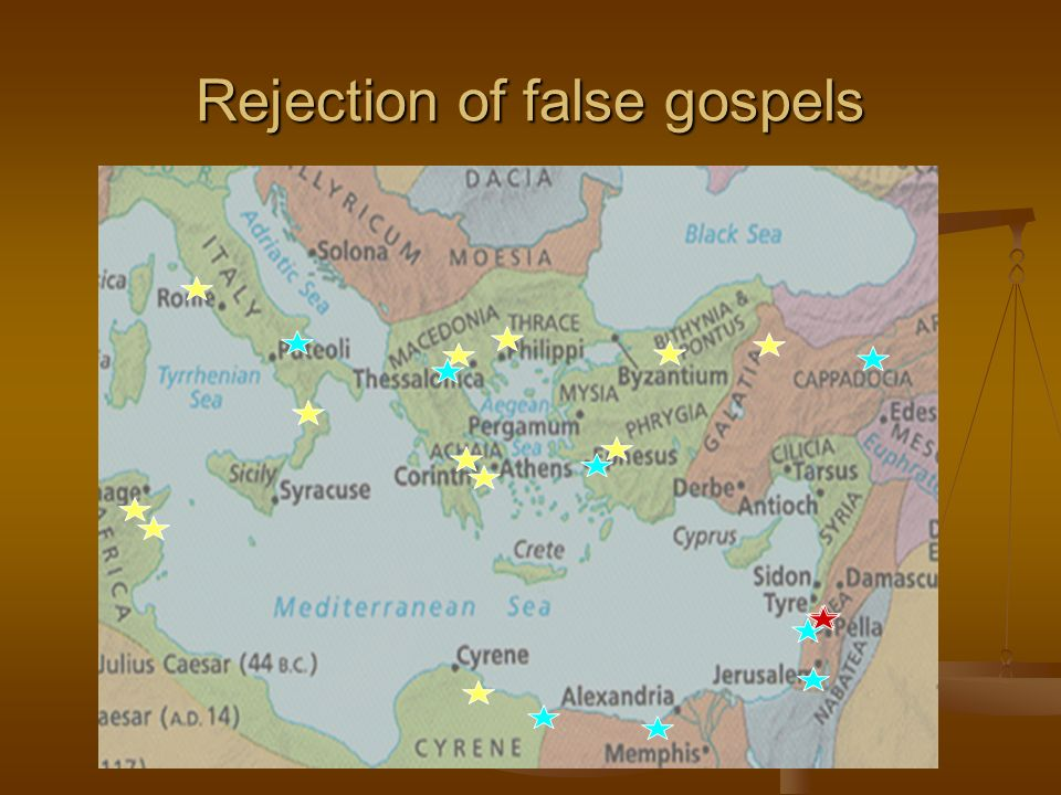 Rejection of false gospels