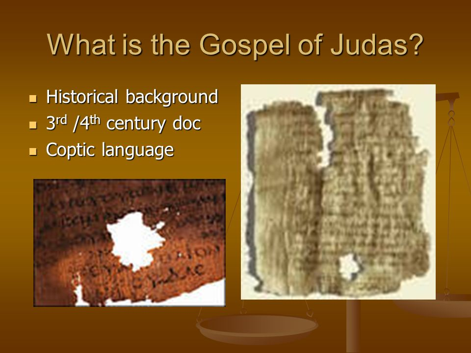 What is the Gospel of Judas.