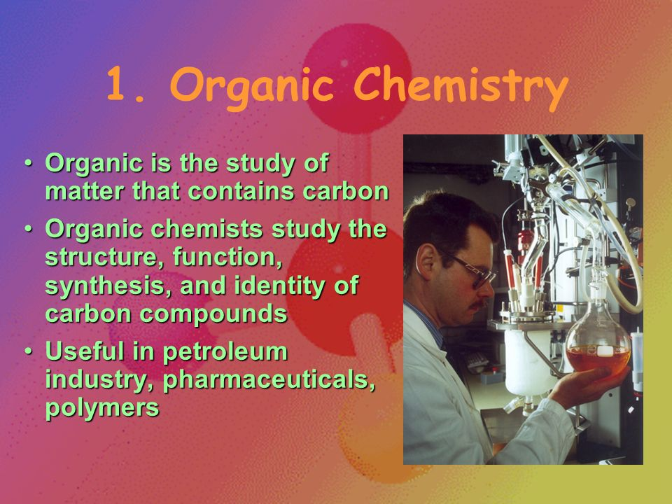 Branches of Chemistry Many major areas of study for specializationMany major areas of study for specialization Several career opportunitiesSeveral career opportunities Also used in many other jobsAlso used in many other jobs