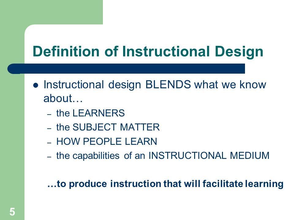 5 5 definition of instructional design