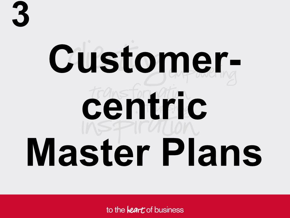 Customer- centric Master Plans 3
