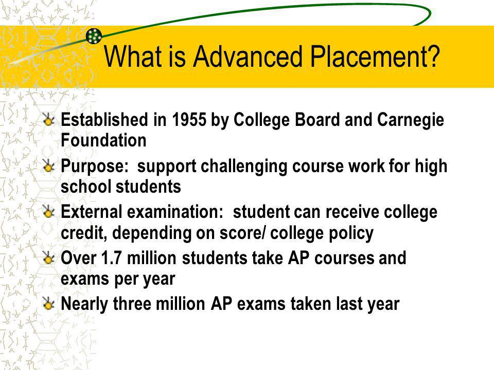 What is Advanced Placement.