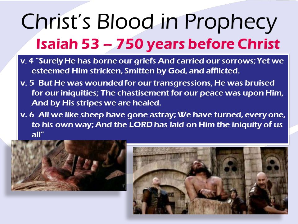 Christs Blood in Prophecy v.