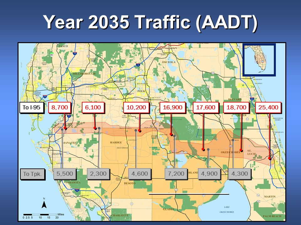 Year 2035 Traffic (AADT) 25,400 18,700 17,600 16,900 10,200 6,100 8,700 4,300 4,900 7,200 4,600 2,300 5,500 To Tpk.