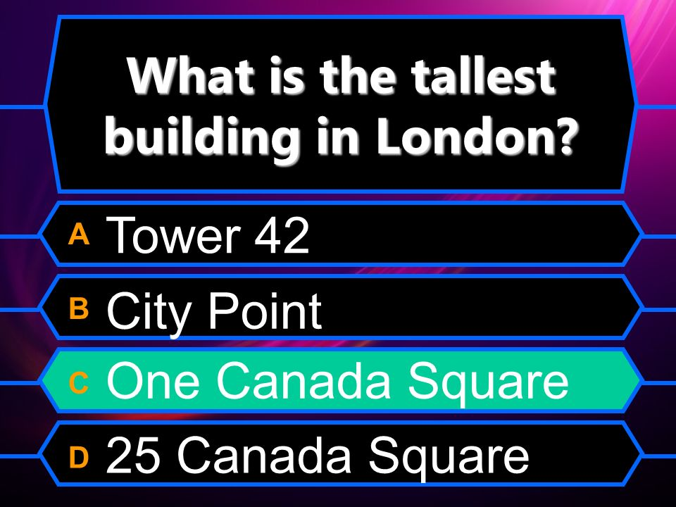 What is the tallest building in London.