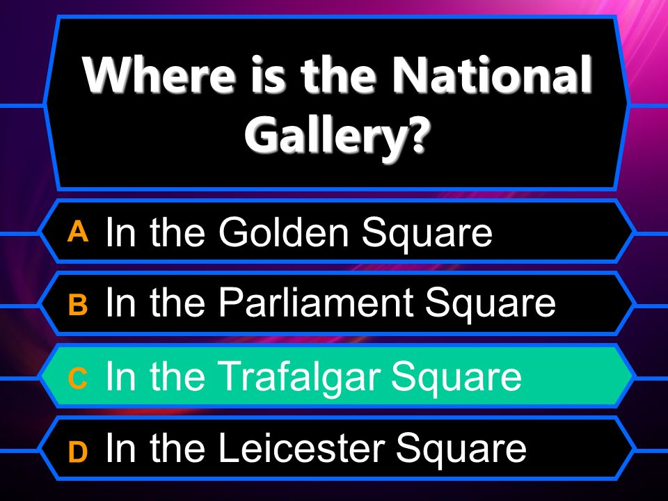 Where is the National Gallery.