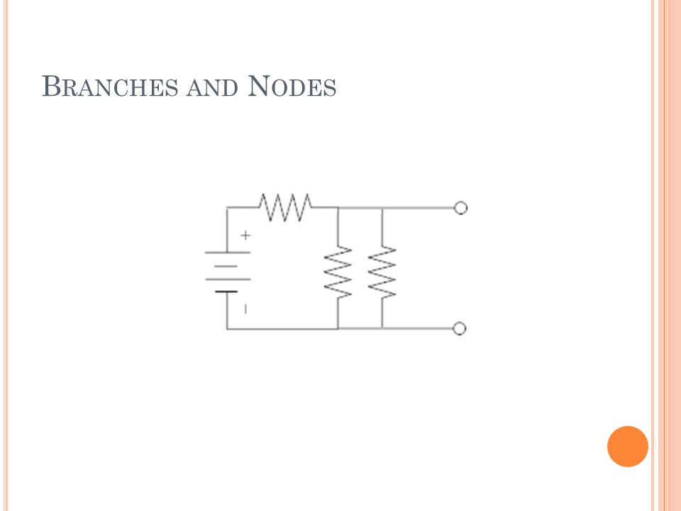B RANCHES AND N ODES