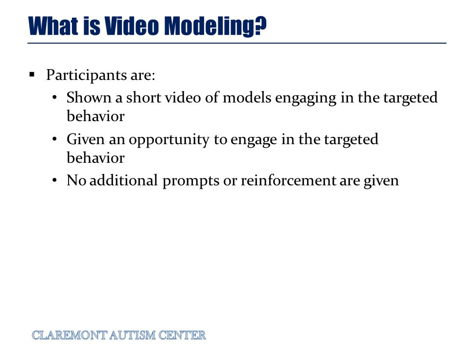 What is Video Modeling.