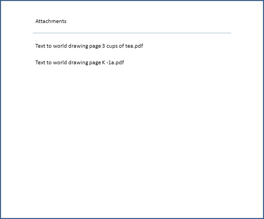 Attachments Text to world drawing page 3 cups of tea.pdf Text to world drawing page K -1a.pdf