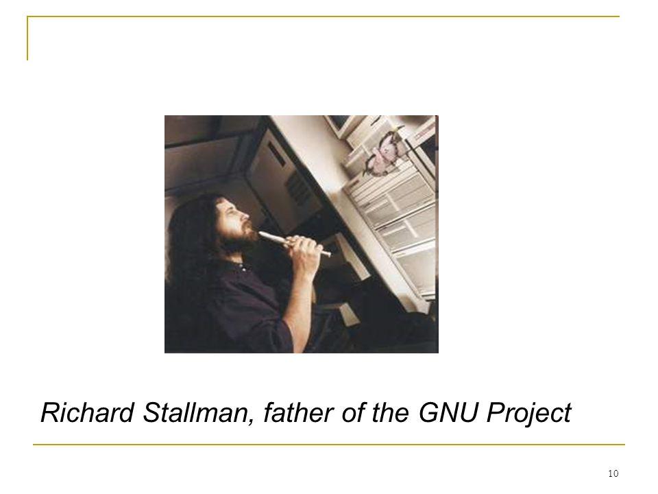 10 Richard Stallman, father of the GNU Project