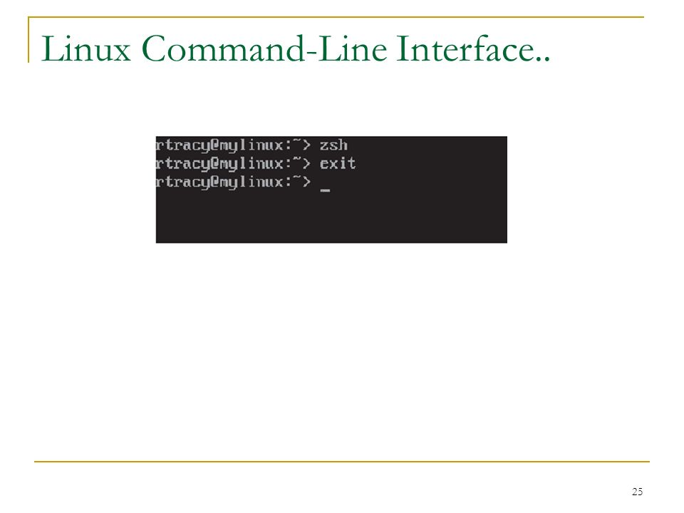 25 Linux Command-Line Interface..