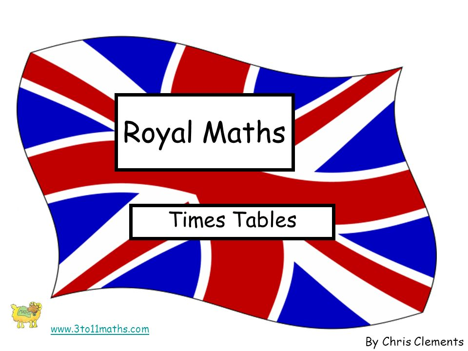 Royal Maths Times Tables By Chris Clements