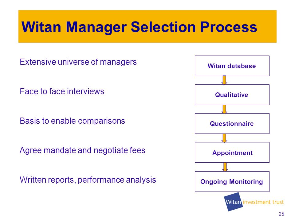 24 Investment Managers Multi-manager process Manager changes in 2008 Update on 2009