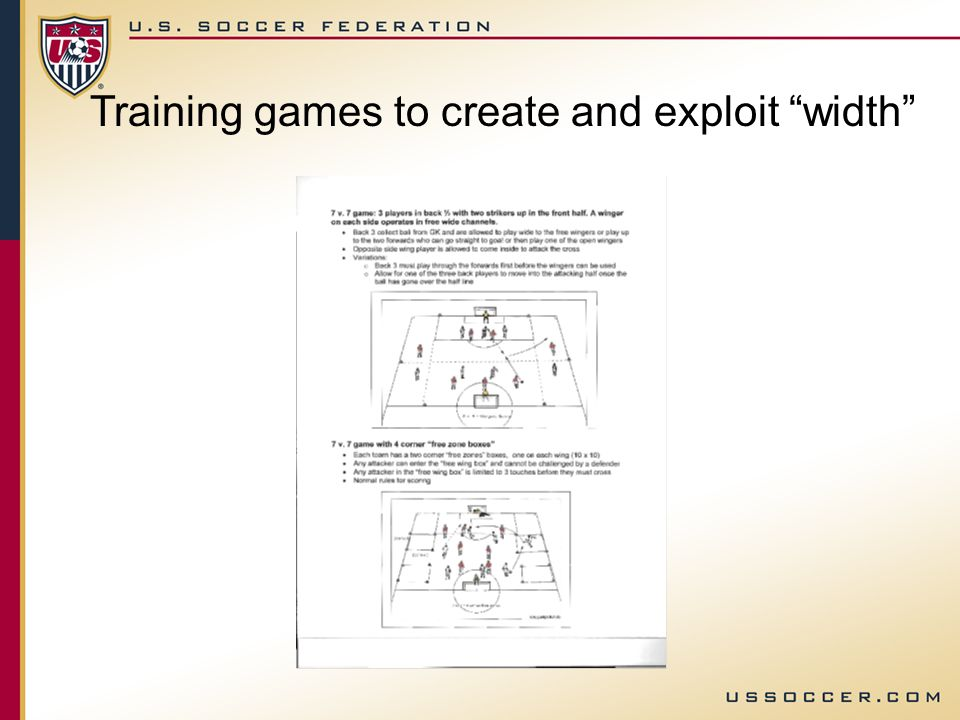 Training games to create and exploit width
