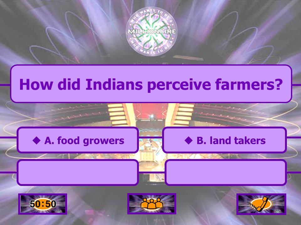 A. business partners How did Indians perceive trappers/traders D. animal killers