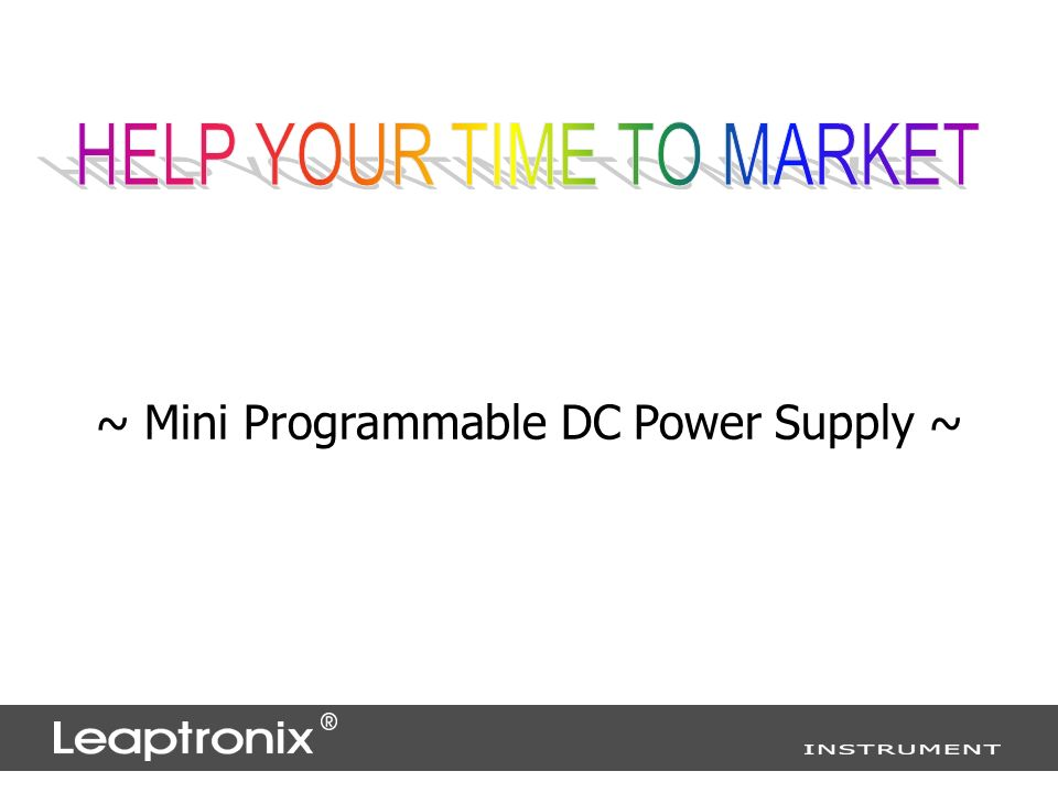 ~ Mini Programmable DC Power Supply ~