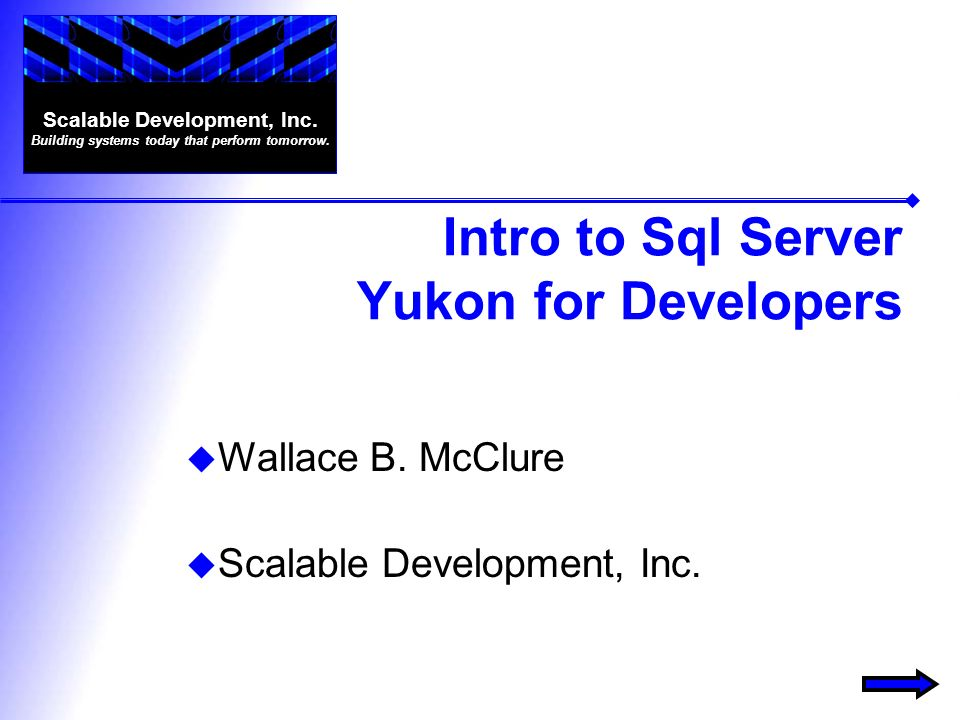 Intro to Sql Server Yukon for Developers Wallace B.