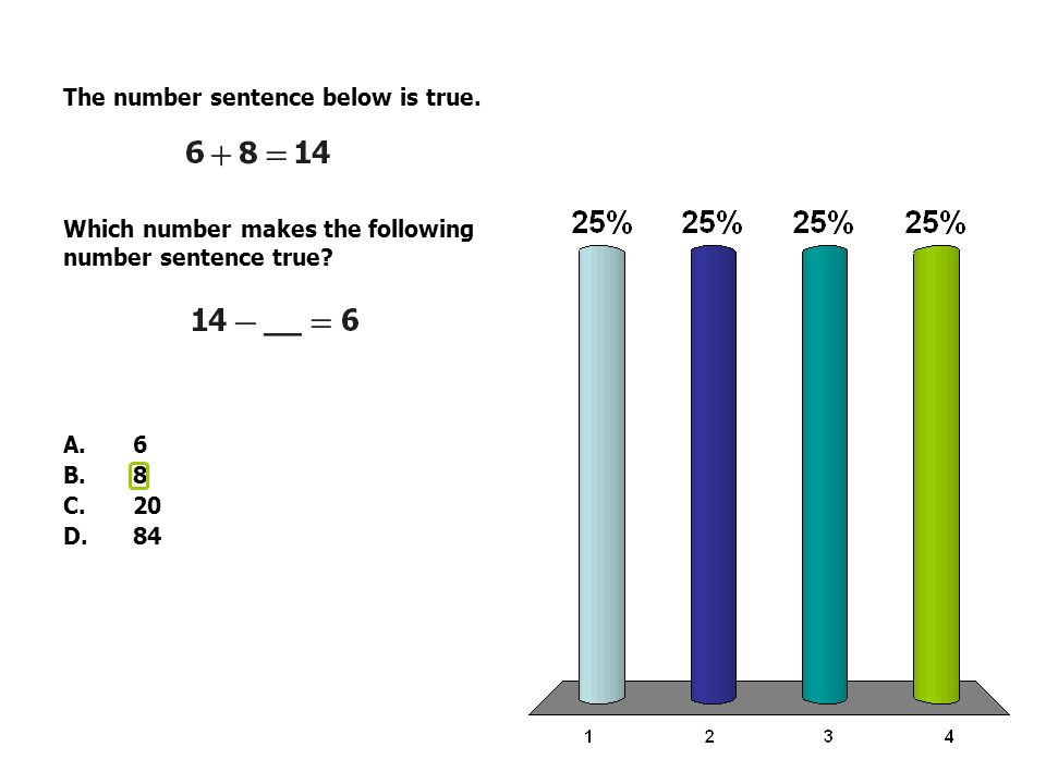 The number sentence below is true. Which number makes the following number sentence true.
