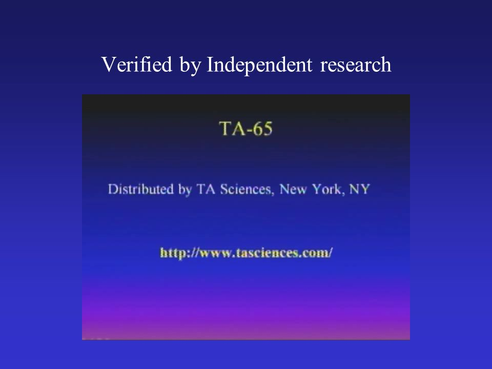 Verified by Independent research