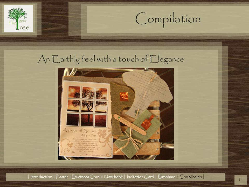 Compilation An Earthly feel with a touch of Elegance 11 | Introduction | Poster | Business Card + Notebook | Invitation Card | Brochure | Compilation |
