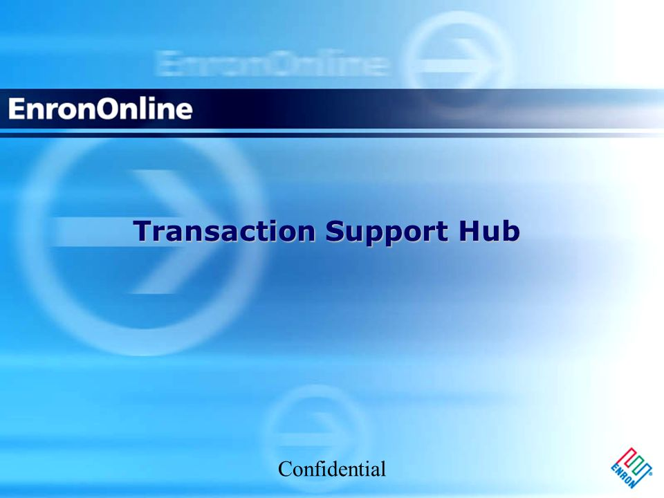 Confidential Transaction Support Hub