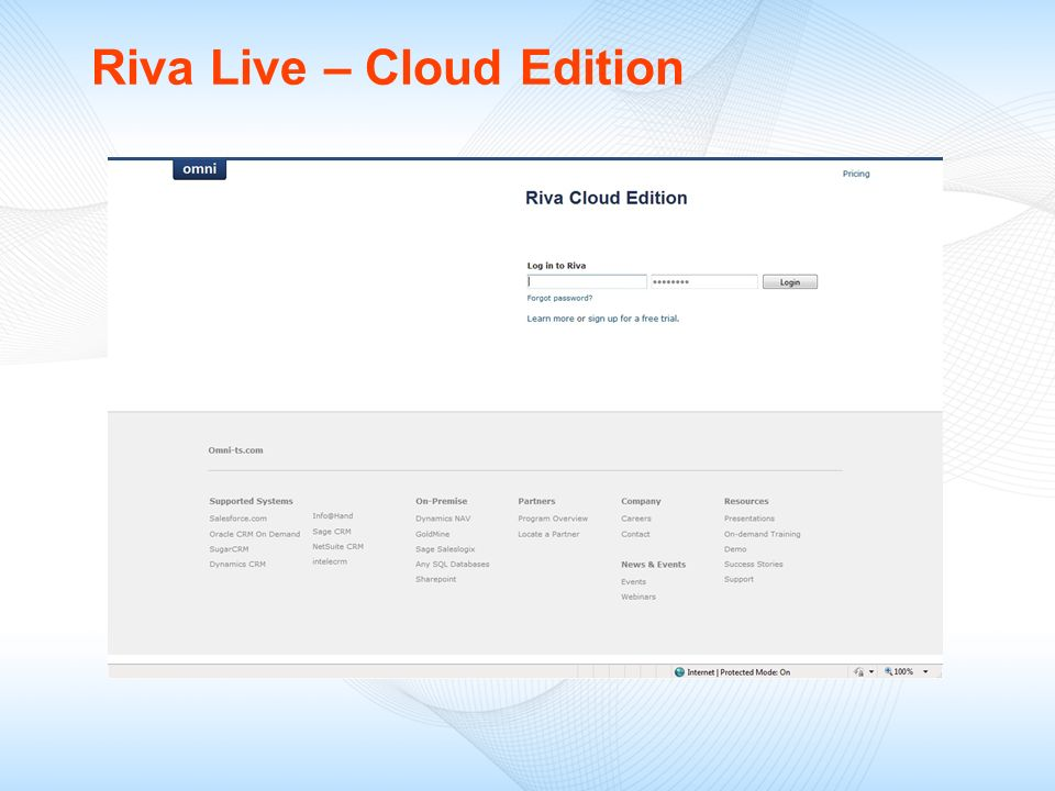 Riva Live – Cloud Edition