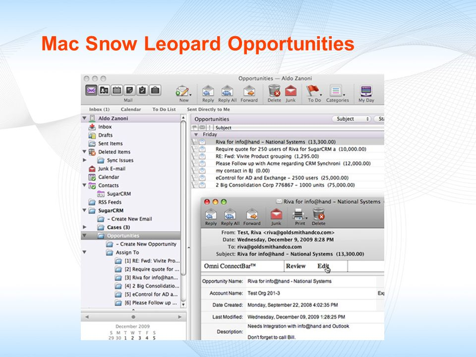 Mac Snow Leopard Opportunities