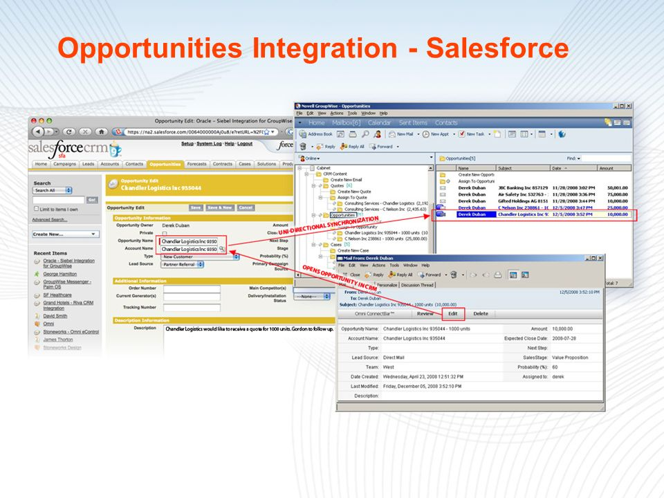 Opportunities Integration - Salesforce
