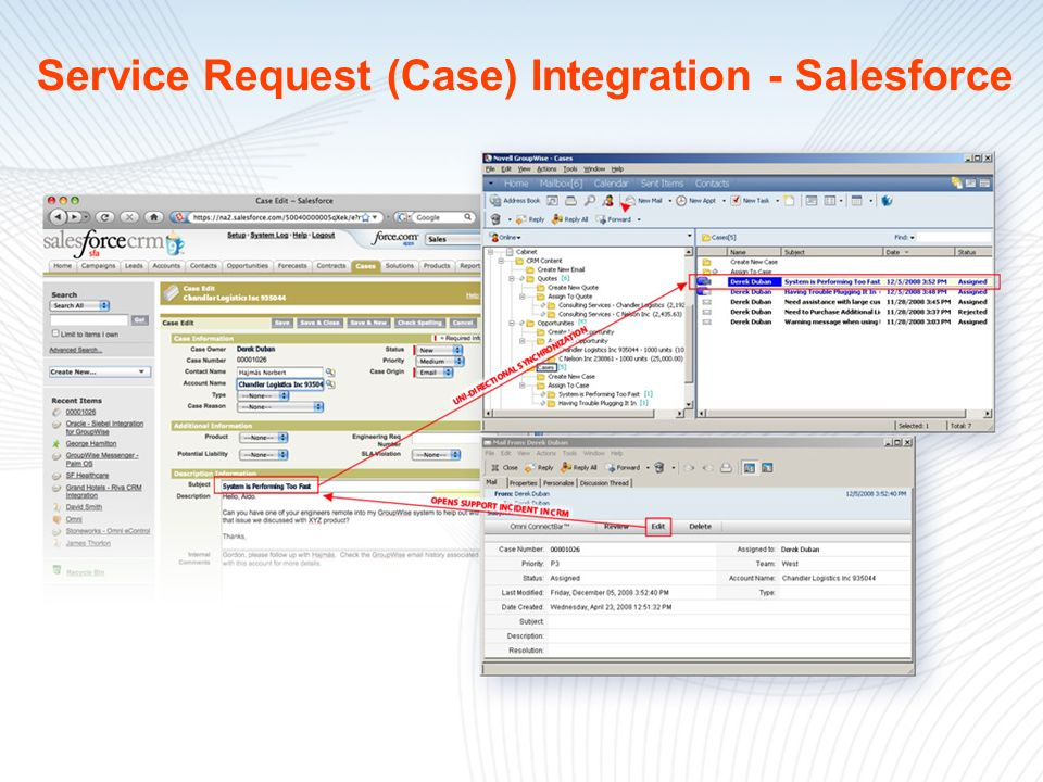 Service Request (Case) Integration - Salesforce